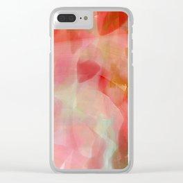 Wild Verbena - reds Clear iPhone Case