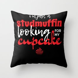 I'm Just A Studmuffin Funny Valentine's Day Gift Throw Pillow