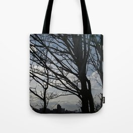 Trees along the River Thames, near Woolwich Tote Bag