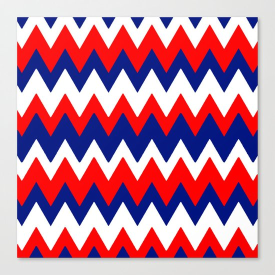 Red, White and Blue, 2016 Canvas Print