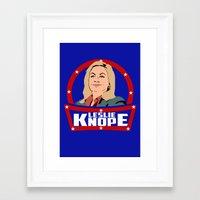 leslie knope Framed Art Prints featuring Leslie Knope by SuperEdu