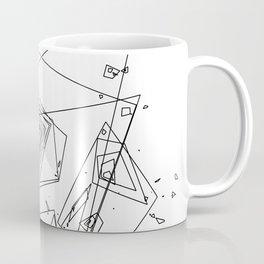 Mountain Vertices, Mt. Hood, Black Geometric Coffee Mug