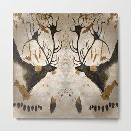 Lascaux Cave Deer III Metal Print