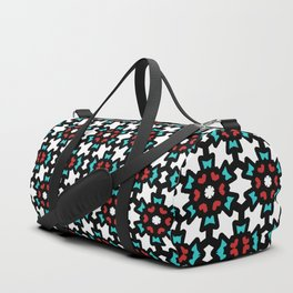 Red & Blue Rosette Pattern Duffle Bag