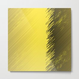 many multicolored  gold,golden stripes friendly Metal Print