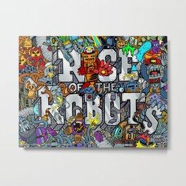 Doodle Robots (Hidden Doodles) Metal Print