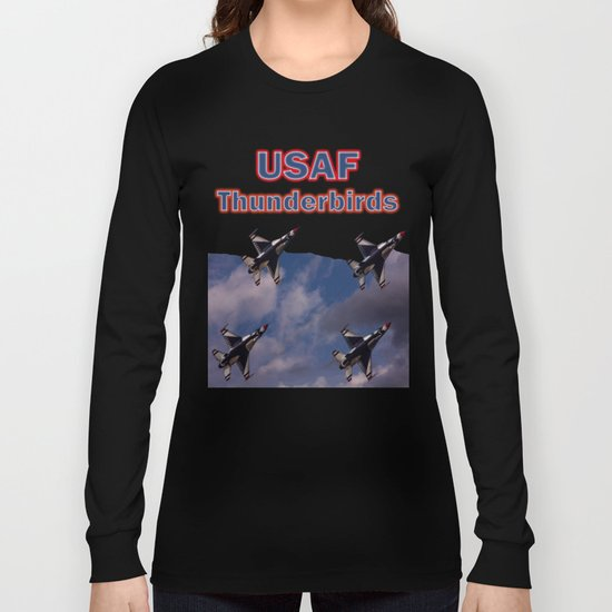 USAF Thunderbirds In Diamond Formation Long Sleeve T-shirt