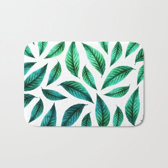 Tropical Foliage Pattern #society6 #decor #buyart Bath Mat