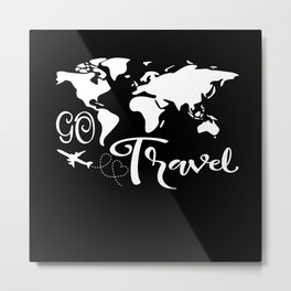 Go Travel Metal Print