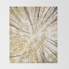 fall looking up Throw Blanket