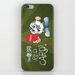 Red Card Comic iPhone Skin