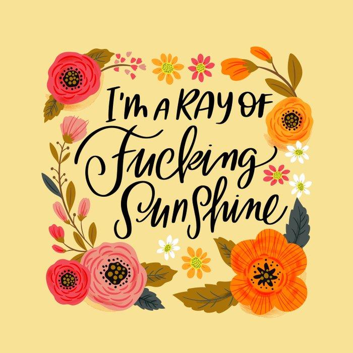 Pretty Swe*ry: I'm a Ray of Fucking Sunshine Comforters