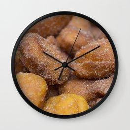 Carrot dumplings Wall Clock