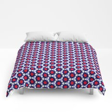 Red & Blue Pattern Comforters
