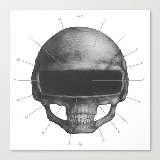 Anatomy of Daft Punk Canvas Print
