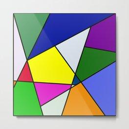 Colorful Line Pattern Metal Print