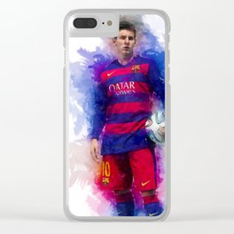 Lionel Messi Clear iPhone Case