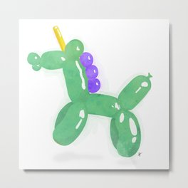 Balloonicorn - Green Metal Print