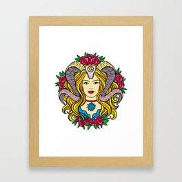 The Horned Goddess (Painting) Framed Art Print