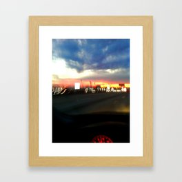 710 Lights Framed Art Print