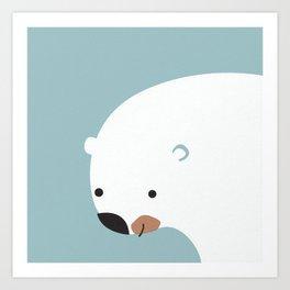 Sipping Bear Art Print