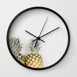 Pineapples Wall Clock
