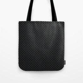 Black and Dark Shadow Polka Dots Tote Bag