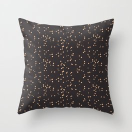 Beige Brown Shambolic Bubbles Throw Pillow