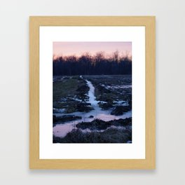 Frosty Sunset Framed Art Print