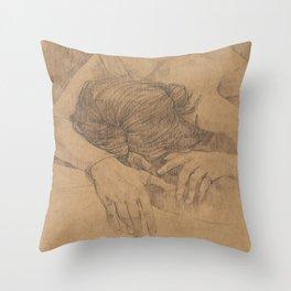 Life Drawing Throw Pillow