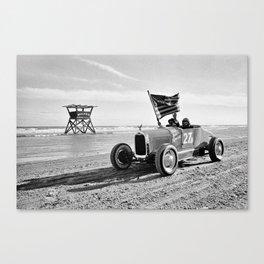 The Race of Gentlemen bw 5 Canvas Print