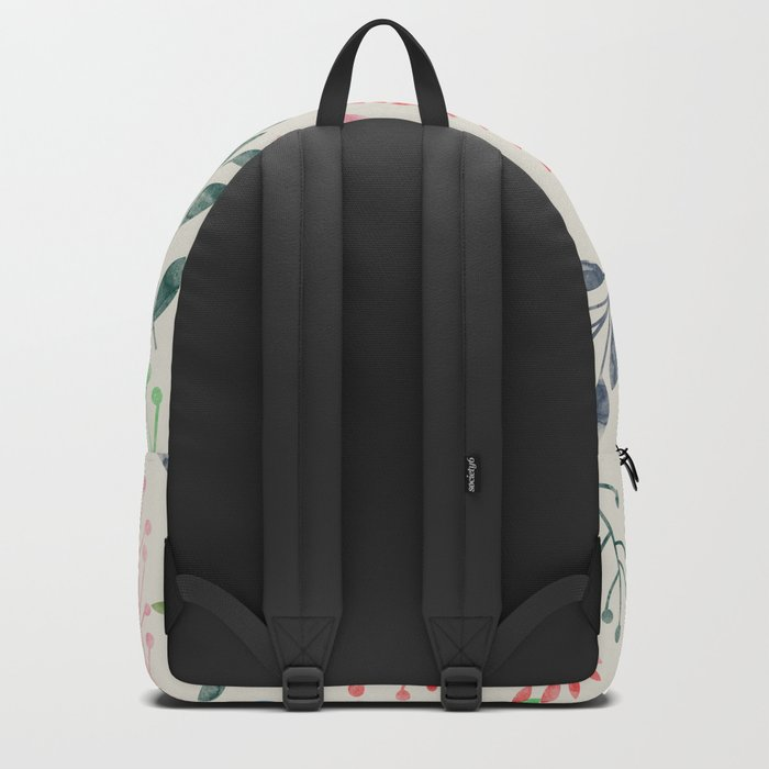 Watercolor Floral & Fox III Backpack