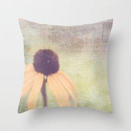 Black-eyed Susan Postcard Throw Pillow