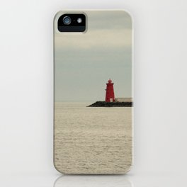 Red Lighthouse iPhone Case