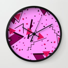 Pink Error Wall Clock