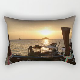 Boats during Sunset Rectangular Pillow