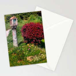Wayside cross and a bush Stationery Cards