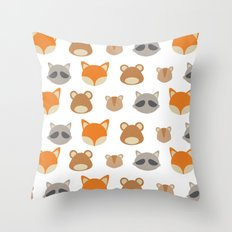 Woodlands Minimal Throw Pillow