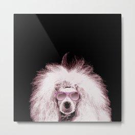 Poodle Dog Digital Art Metal Print
