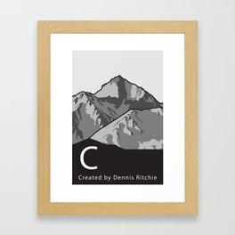 C Programming Landscape poster Framed Art Print
