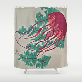 Colorful Jellyfish Shower Curtain