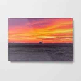 Beautiful sunset sky in Portugal Metal Print