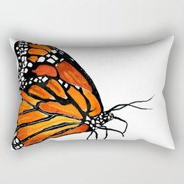 Watercolor Monarch Butterfly in Flight Rectangular Pillow