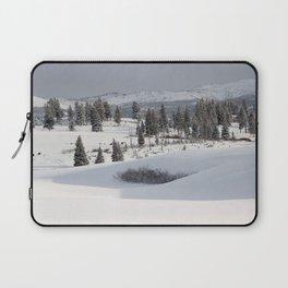 Yellowstone National Park - Blacktail Deer Plateau Panorama Laptop Sleeve
