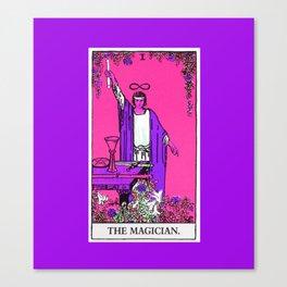 1. The Magician- Neon Dreams Tarot Canvas Print