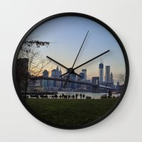 dumbo Wall Clocks featuring dumbo by danielle marie