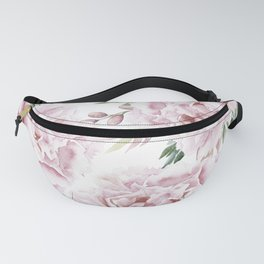 Girly Pastel Pink Roses Garden Fanny Pack