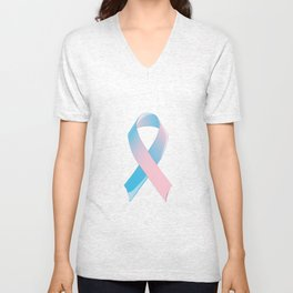 Premature Birth Awareness Ribbon Unisex V-Neck