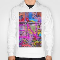 grafitti Hoodies featuring Bright Grafitti by davehare