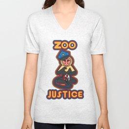 zoo justice Unisex V-Neck